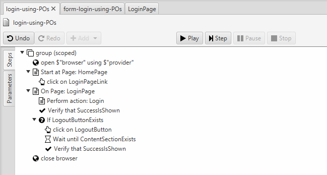 login-logout-using-POs
